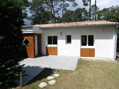 Photo for House 3 bedrooms, 6 people in a residence with pool in Lacanau ocean