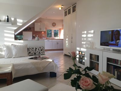 Photo for Comfortable country house apartment / Møn / Mön with terrace, garden, dog-friendly