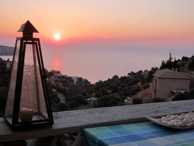 Photo for Villa Erifili with magnificent view  just 300m from beach