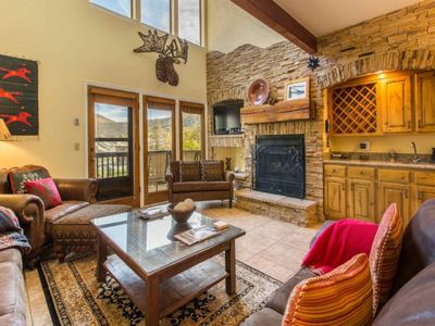 Photo for No Car Needed - Updated Deer Valley Family Home on Shuttle Route w Secluded Hot Tub. FREE Ski Rental
