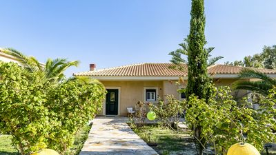 Photo for Beach House Odysseus Walk to Beach, Ideal for Families, Safe Sea, A/C, WiFi