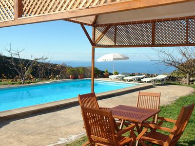 Photo for Mountain cottage for 4Pen Taucho, Adeje with pool and views of La Gomera