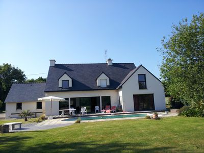 Photo for Sarzeau big house any comfort with heated swimming pool and tennis very calm