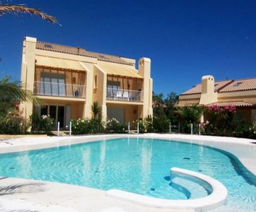Photo for Ground floor apartment in Residence with swimming pool a few steps from the sea