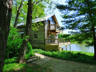 Photo for Beautiful, 200 year old Log home - Secluded, 30 Min. from Downtown
