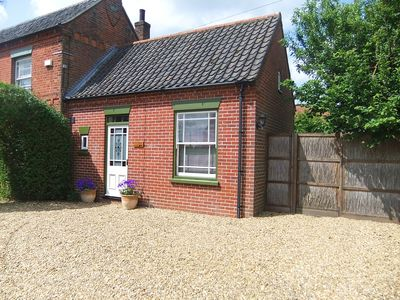 Photo for Delightful, dog-friendly, peaceful accommodation for two with off-road parking.