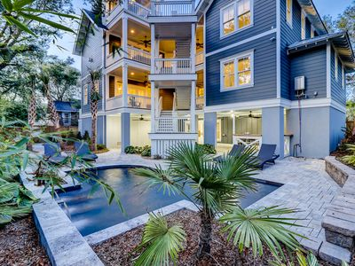 Photo for NEW Build & NEW to Rental Market, Less Than 1 Block To The Beach, Private Pool