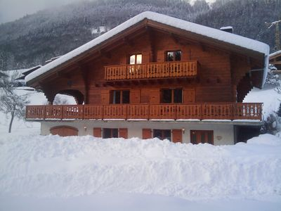 Photo for Spacious Modern 5 bed chalet with hot tub, near Morzine, ideal for families