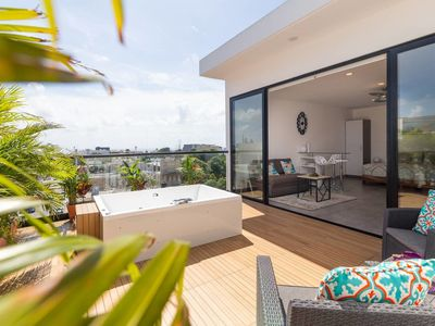 Photo for Designer PH/ Private Terrace with Jacuzzi / Gym