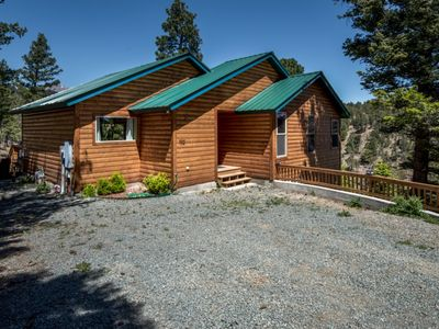 Photo for Log Inn Cabin, HOT TUB, WIFI, CENTRAL AC