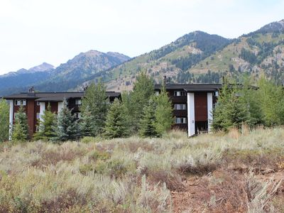 Photo for Cozy Mountain Side Condo in Teton Village - 5 Min Walk to Ski Lifts