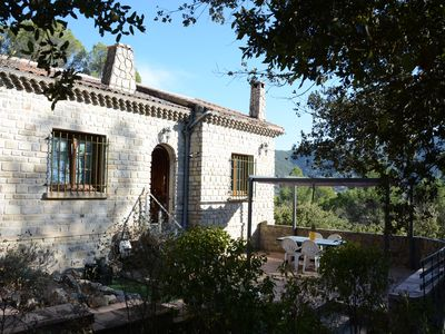 Photo for Charming stone villa, 5/6 people, private swimming pool, own 16000sqm. View.