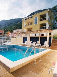 Photo for Nice new apartment at 250m. from the beach with sea view and pool