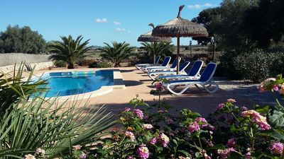 Photo for Ses Salines: APARTMENT RURAL MALLORCAN FINCA WITH POOL AND 5 MINUTES FROM THE BEACH TRENC. SES SALINES.