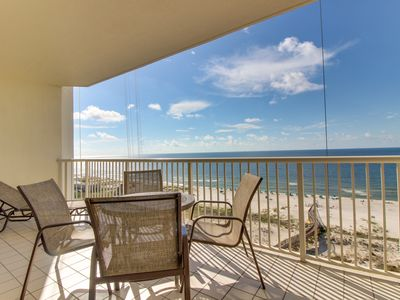 Photo for NEW LISTING! Waterfront condo w/Gulf views, shared pool/hot tub & private beach