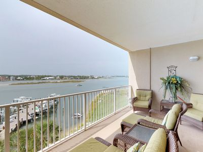 Photo for Bayfront condo w/ amazing views, shared pool & hot tub, & two balconies