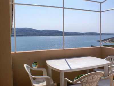 Photo for Two bedroom apartment with terrace and sea view Zubovići, Pag (A-9678-b)