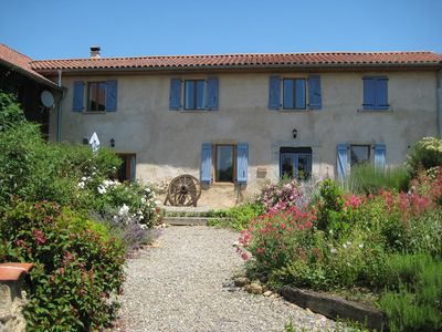 Photo for Family & pet friendly farmhouse; modern amenities & great views of the Pyrenees