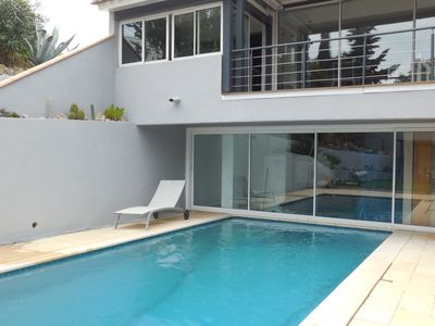 Photo for Villa sleeps 8 with heated pool