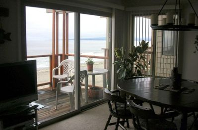 DINING AREA LOOKS OUT ON MONTEREY BAY
