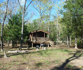 Photo for Un-plug!  No WiFi! ReCharge in a Cabin by the Shenandoah River!