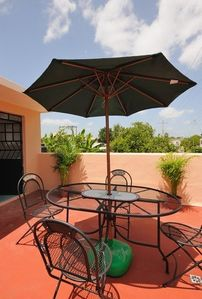 Photo for Pretty rustic cottage in Santiago with terraces and pool: close to attractions