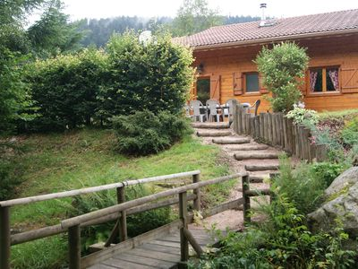 Photo for Typical chalet 8 people sauna near forest and its waterfall WIFI