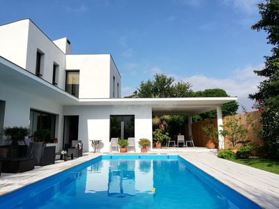 Photo for beautiful modern villa with heated pool near: sea, golf, tennis and shops