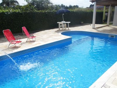 Photo for Beach house with pool and barbecue.