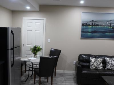 Photo for Brand new basement suite, two Queen beds.