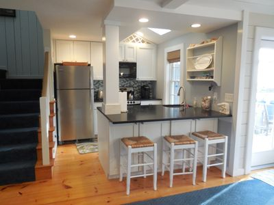 Newly renovated kitchen with modern stainless steel appliances