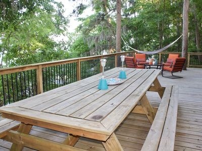 """Photo for Lakefront """"Treehouse"""" - Private Retreat in the Pines"""