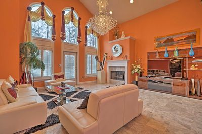 Retreat to this 5-bedroom, 4.5-bath vacation rental on your next trip to Duluth!