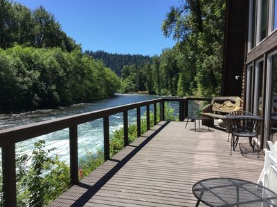 Photo for Large McKenzie River front Lodge is a perfect getaway for family or friends