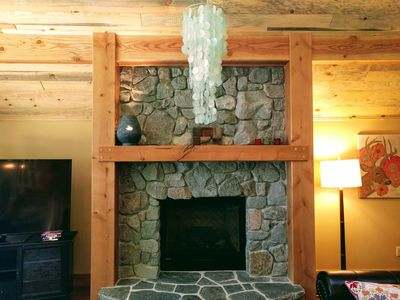 Photo for Luxurious Cabin with Soaring Ceilings, Hot Tub, and Game Loft