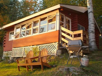 Photo for Charming Log Cabin Just Steps Away From Beatiful Rangeley Lake