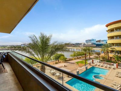 Photo for Breathtaking Views! Security, Walk to ASU Campus & Dining, Heated Pool, Spa/ Fitness Room -Free Golf
