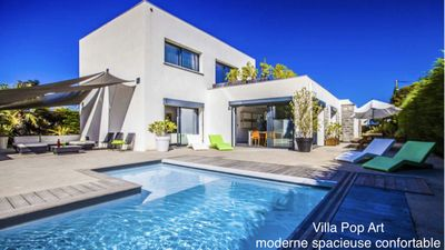 Modern, spacious, bright, quiet and pool -Very close to Biarritz Ocean -  Anglet