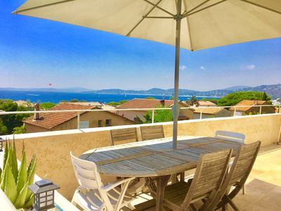 Photo for Apartment classified 4 *, magnificent sea view, 150m from the beach, Golfe Saint-Tropez