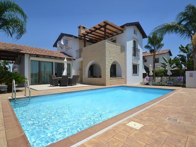 Photo for Aristide Villa - Fully Air-Conditioned Three-Bedroom Villa with Private Swimming Pool, only 400 Meters from the Beach ! FREE WiFi