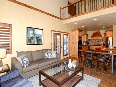 Photo for Luxury Cascades 5 BR Townhome, Private Hot Tub, Remodeled, Game Room, Theater