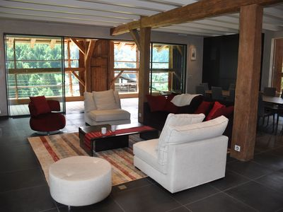 Photo for 192 sqm luxury apartment in a renovated farmhouse in the Morzine Valley