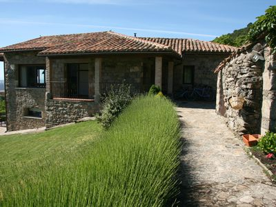 Photo for Spacious family-friendly stone house with fabulous views, large grounds and pool