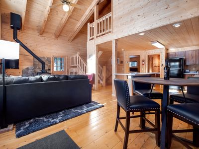 Photo for NEW - Cabin in the Pines - Perfect for Families - Private Hot Tub - 5min to Town