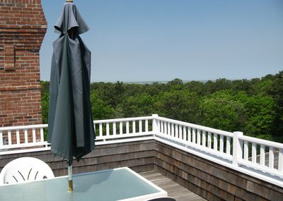Roof deck with water view
