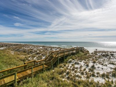 On the Gulf of Mexico - Direct Views of the White Sand and Emerald Water.  Very Spacious Condo