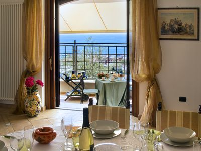 "Photo for ""La Medina"" delcious  House sea view,downtown, between Rome and Naples"