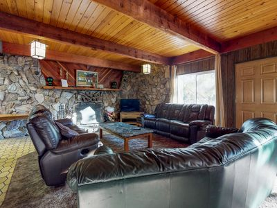 Photo for Dog-friendly, mountain cabin w/ a great view & location a few miles from town!