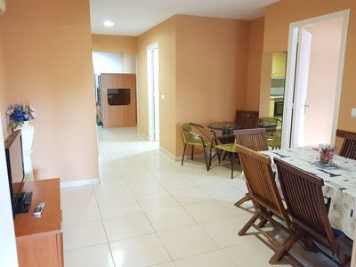 Photo for 8 SEATER APARTMENT WITH POOL AND TENNIS IN STA. MARGARITA 300 MTS FROM THE BEACH