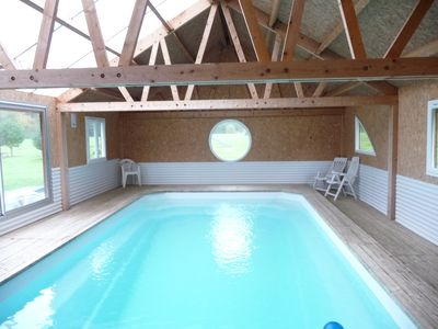 "Photo for Large cottage ""Mill"" 1/12 people with heated indoor pool."